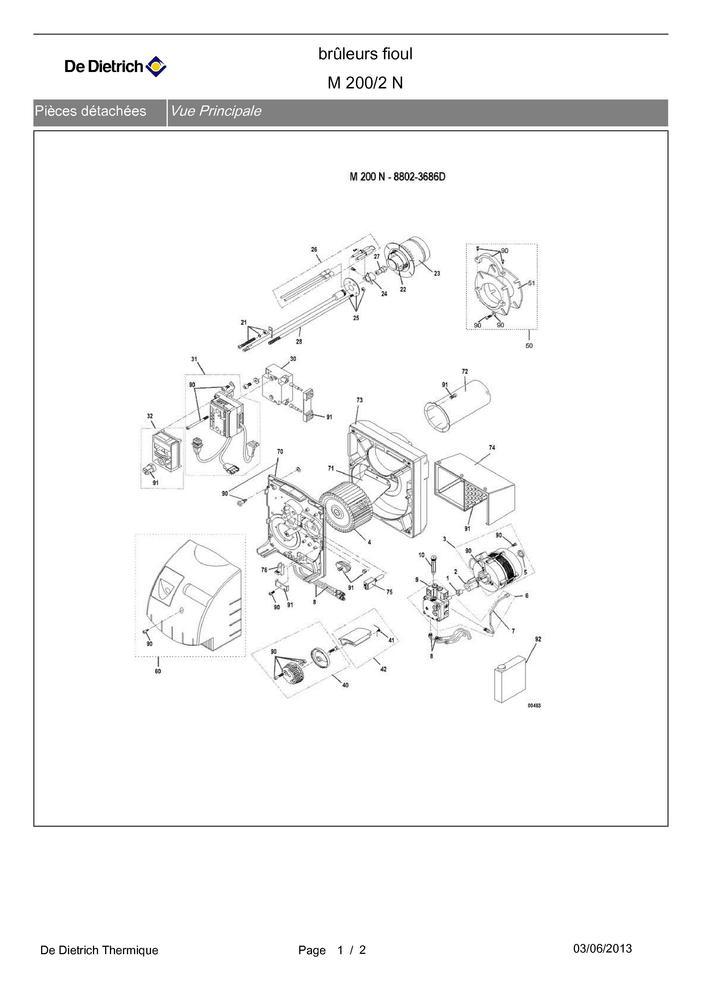 Pompe fioul bfp 41 r3+tube 97955484 DE DIETRICH
