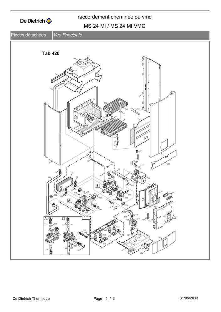 pi ces d tach es chaudi re de dietrich ms 24 mi ms 24 ml vmc pi ces express pi ces d tach es. Black Bedroom Furniture Sets. Home Design Ideas