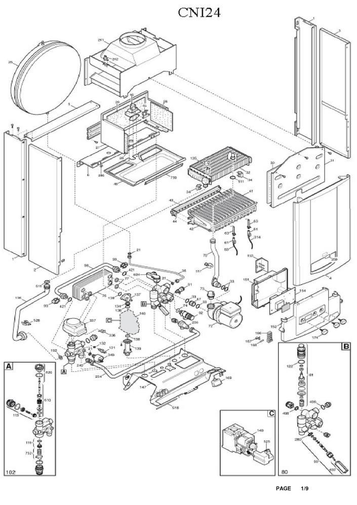 pi ces d tach es chaudi re deville cni 24 pi ces express. Black Bedroom Furniture Sets. Home Design Ideas