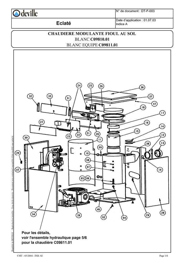 pi ces d tach es chaudi re deville modulante fioul sol. Black Bedroom Furniture Sets. Home Design Ideas