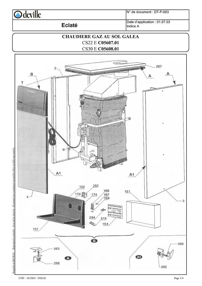 pi ces d tach es chaudi re deville galea cs22 e cs30 e pi ces express pi ces d tach es de. Black Bedroom Furniture Sets. Home Design Ideas