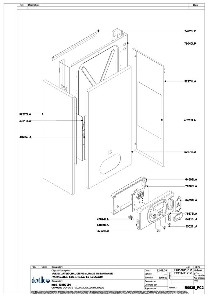 pi ces d tach es chaudi re deville dmc 24 pi ces express. Black Bedroom Furniture Sets. Home Design Ideas
