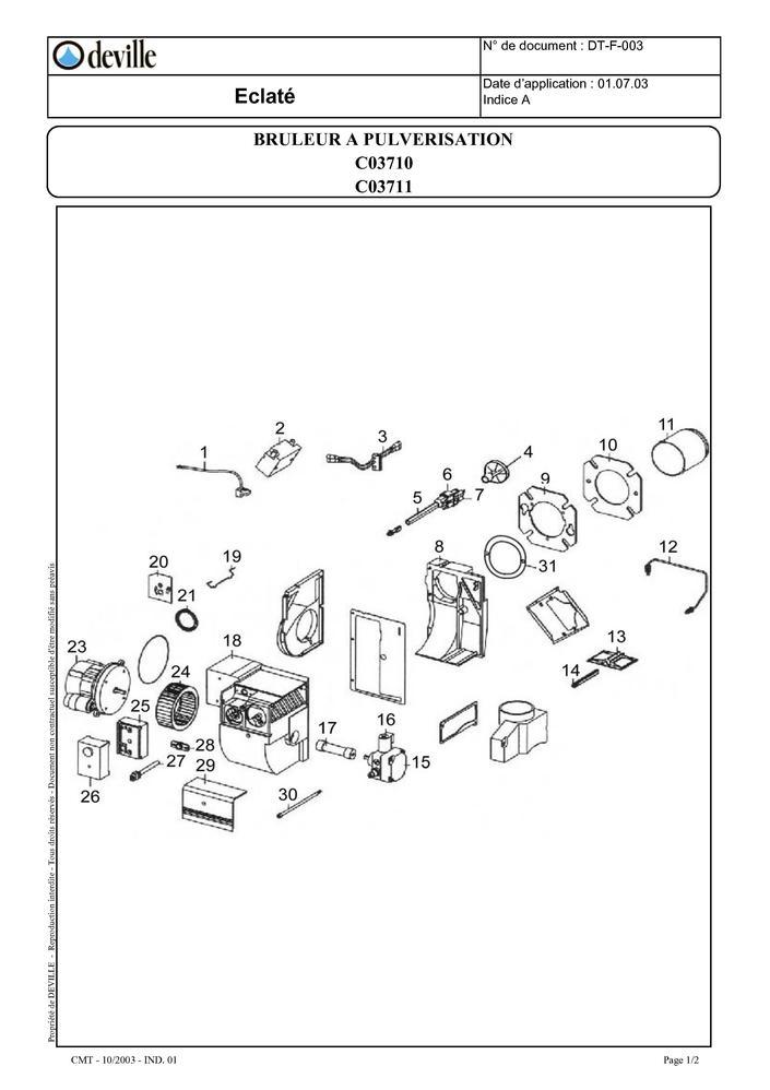 pi ces d tach es br leur deville c03710 c03711 pi ces. Black Bedroom Furniture Sets. Home Design Ideas