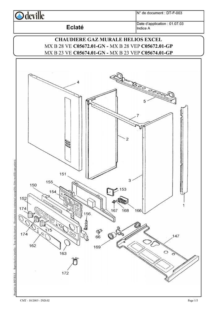 pi ces d tach es chaudi re deville helios excel mx23 ve mx23 vep mx28 ve mx28 vep pi ces. Black Bedroom Furniture Sets. Home Design Ideas
