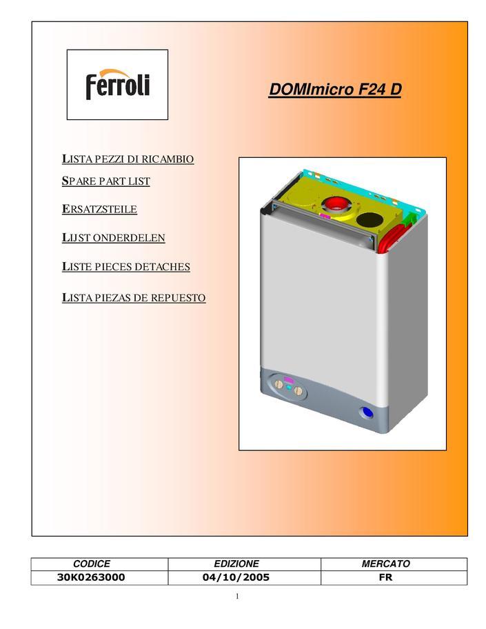 Ferroli Domicompact F24b F24d F30b /& F30d Soupape de Sécurité 39818270