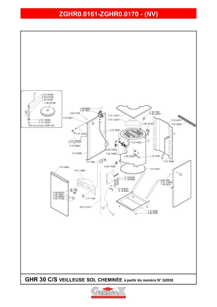 pi ces d tach es chaudi re geminox ghr 30 c s pi ces. Black Bedroom Furniture Sets. Home Design Ideas