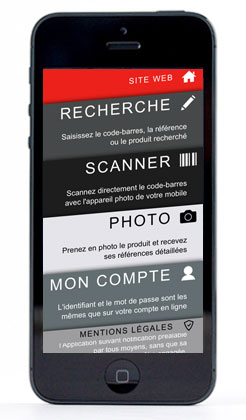 Application mobile Pièces Express