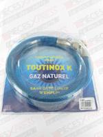 Flexible gaz nat TOUTINOX long 1.25m à vie Euroflex NI125KX35