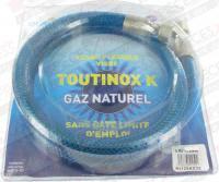 Flexible gaz nat TOUTINOX long 1.50m à vie Euroflex NI150KX35