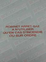 Etiquette Robinet Arret Gaz CZ07 Coditherm