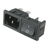 Connecteur + interrupteur noir 10A F604