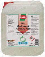 Neutralisateur de solutions acides 214s 5 litres 214-5-F Sotin