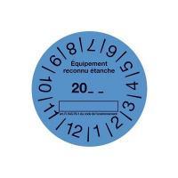 Rouleau de 100 etiquettes bleu CLI02152