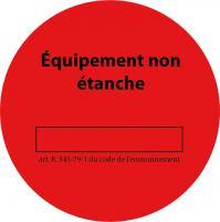 Rouleau de 100 etiquettes rouge CLI02154