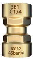 Raccord rapide droit a pression 1/4 (x5) RAC54002