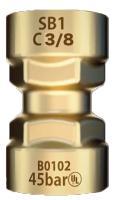 Raccord rapide droit a pression 3/8 (x5) RAC54004