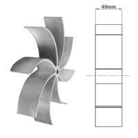 Roue à ailettes de 40 mm pour extracteur Fandis 14706021