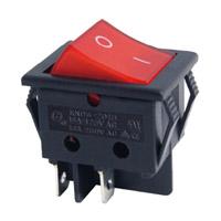 Interrupteur à bascule lumineux rouge 16 F037R